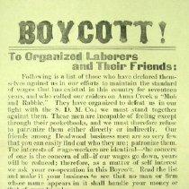 "Image of Handbill - ""Boycott"""