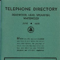 Image of Telephone Directory, 1938 - June 1938