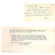 Image of Memorandum - Memorandum and Note