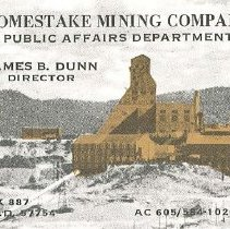 Image of Card, Business - Business Card for Jim Dunn