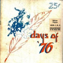 Image of Days of '76 Rodeo Program, Unknown Year - 1945-1946