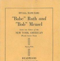 "Image of ""Official Scorecard"" - October 19, 1922"