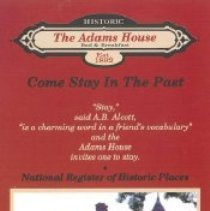 Image of Pamphlet - Pamphlet for the Adams House Bed and Breakfast