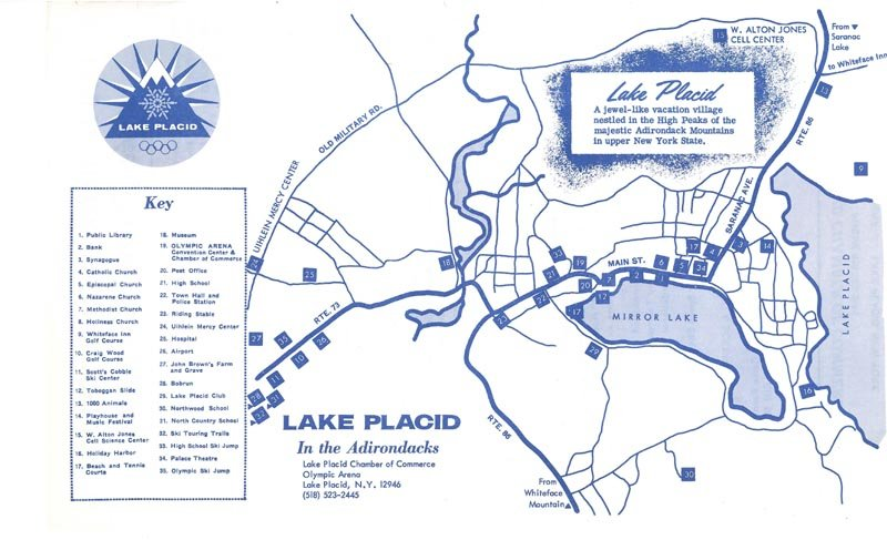 Lake Placid New York Map.1970 71 Winter Tentative Schedule Lake Placid New York Chamber Of