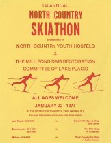 Image of 1st Annual North Country skiathon sponsored by North Country Youth Hostels & The Mill Pond Dam Restoration Committee Lake Placid : All Ages Welcome -