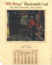 "Image of ""Old Forge"" blacksmith coal the best smithing coal mined [calendar for 1917] [graphic] -"