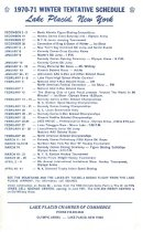 Image of 1970-71 Winter Tentative Schedule Lake Placid, New York - Chamber of Commerce (Lake Placid, N.Y.)