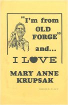 "Image of ""I'm from Old Forge"" and... I Love Mary Anne Krupsak -"