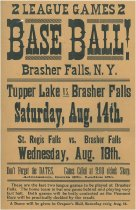 Image of 2 League Games : Baseball!: Brasher Falls, N.Y. : Tupper Lake vs. Brasher Falls... St. Regis Falls vs. Brasher Falls -