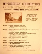 Image of 75th Birthday Celebration and Old Home Week, Tupper Lake, N.Y. - Chamber of Commerce (Tupper Lake, N.Y.)