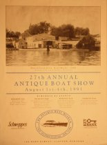 Image of 27th Annual Antique Boat Show August 1st-4th, 1991 -