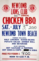 Image of 45th Annual Chicken BBQ: Sat. - July 3rd, 2010 Newcomb Town Beach - Newcomb Lions Club (Newcomb, N.Y.)