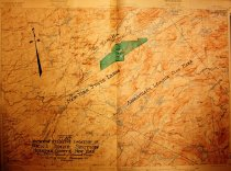 Image of Topographic Map Showing Relative Location of Nick's Lake Section, Herkimer County, New York - D. C. & C. L. Wood, Civil Engineers and Surveyors