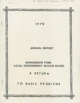 Image of 1979 Annual Report : Adirondack Park Local Government Review Board : A Return to Basic Problems - Adirondack Park Local Government Review Board