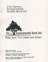 Image of 21st Century Environmental Bond Act : Keep New York Clean and Green - New York (State). Department of Environmental Conservation
