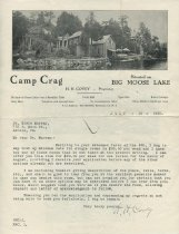 Image of [Henry Covey letter to Dr. Elsie Murray concerning vacancy at Camp Crag] - Covey, Henry, 1836-1924