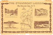 Image of [The Steamboat Landing place mat] - Steamboat Landing (Blue Mountain Lake, N.Y.)
