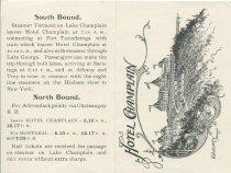 Image of [The Hotel Champlain advertising card] - Hotel Champlain (Plattsburgh, N.Y.)