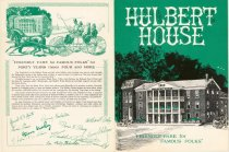 Image of [Hulbert House menu] - Hulbert House (Boonville, N.Y.)