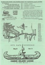 Image of 1975 Rate Schedule : May 23 - Oct 13 : Canoe Island Lodge on Lake George - Canoe Island Lodge (Diamond Point, N.Y.)