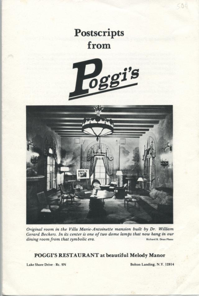 Postscripts From Poggi S Poggi S Restaurant Bolton