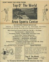 Image of Top O' the World advertisements - Top O' the World Resort (Lake George, N.Y.)