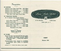 Image of Loon Lake Hotel and Cottages, in the Adirondacks, Franklin County, Loon Lake, N.Y. : Tariff : Season 1950 - Loon Lake House (Loon Lake, N.Y.)