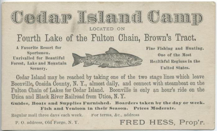 Cedar Island Camp Located on Fourth Lake of the Fulton Chain