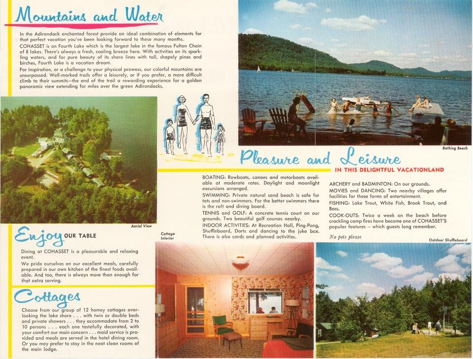 Cohasset : Fourth Lake in the Adirondacks : A Vacationland
