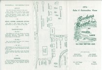 Image of 1974 Rates and Reservation Form : Beckers Resort, Inc. on Fourth Lake, Old Forge, New York - Beckers Resort, Inc.