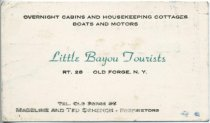 Image of [Little Bayou Tourists business card] - Little Bayou Tourists (Old Forge, N.Y.)