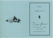 Image of 1941 Schedule of Rates : Tioga Point : Raquette Lake, New York - Tioga Point (Raquette Lake, N.Y.)