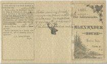 Image of 1886 : The Adirondacks : Alexander House : Saranac Lake, Franklin Co., N.Y. - Alexander House (Saranac Lake, N.Y.)