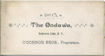 Image of 1893 : The Ondawa, Schroon Lake, N.Y. : O'Connor Bros., Proprietors - Ondawa (Schroon Lake, N.Y.)