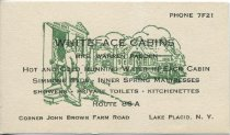 Image of [Whiteface Cabins business card] - Whiteface Cabins (Lake Placid, N.Y.)