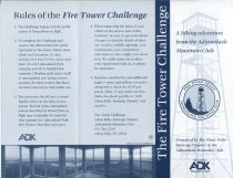 Image of The Fire Tower Challenge : A hiking adventure from the Adirondack Mountain Club / Presented by the Glens Falls-Saratoga Chapter of the Adirondack Mountain Club - Adirondack Mountain Club
