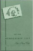 Image of 1967-1968 Membership List / Lake Placid Club - Lake Placid Club