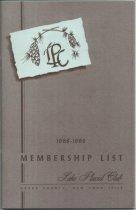 Image of 1968-1969 Membership List / Lake Placid Club - Lake Placid Club