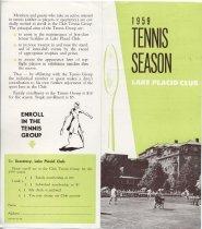 Image of 1959 Tennis Season / Lake Placid Club - Lake Placid Club