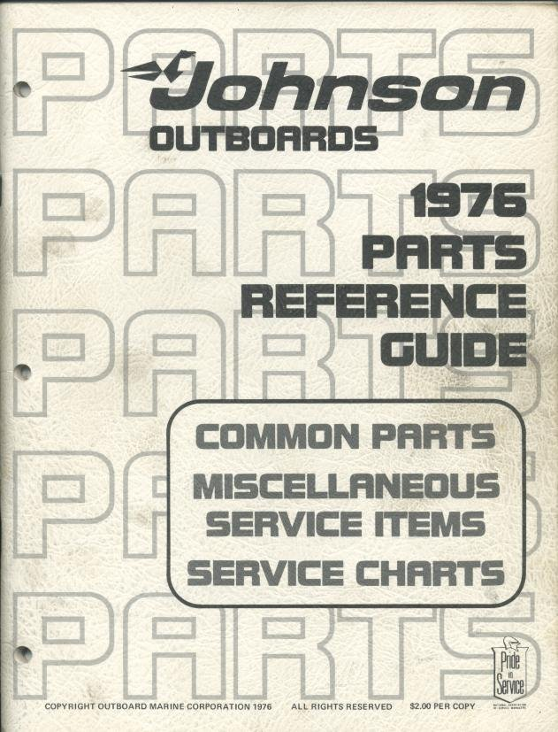 1976 Parts Reference Guide : Common Parks, Miscellaneous