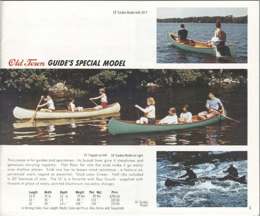 Old Town, 1967 : Catalogue of Boats, Canoes & Equipment