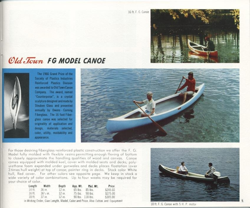 Old Town, 1967 : Catalogue of Boats, Canoes & Equipment - Old Town