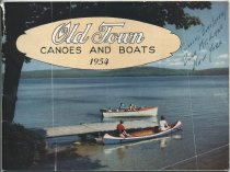 Image of Old Town Canoes and Boats, 1954 - Old Town Canoe Company