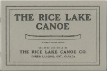 Image of The Rice Lake Canoe designed and built by the Rice Lake Canoe Co., Gore's Landing, Ont., Canada - Rice Lake Canoe Company