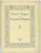 Image of Town Topics and Current Events : August 1926 -