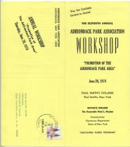 Image of You Are Cordially Invited to Attend the Eleventh Annual Adirondack Park Association Workshop : Promotion of the Adirondack Park Area, June 20, 1974 - Adirondack Park Association