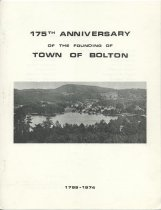 Image of 175th Anniversary of the Founding of Town of Bolton, 1799-1974  - Bolton (N.Y. : Town). 175th Anniversary Committee