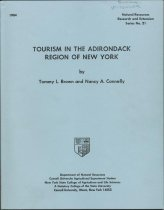 Image of Tourism in the Adirondack Region of New York / Tommy L. Brown and Nancy A. Connelly - Brown, Tommy L.