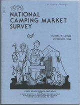 Image of 1978 National Camping Market Survey / Wilbur F. LaPage and Gerald L. Cole - LaPage, Wilbur F.