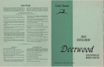 Image of 1952 Catalogue : Deerwood Adirondack Music Center : Saranac Inn, New York - Deerwood Music Camp (Saranac Inn, N.Y.)